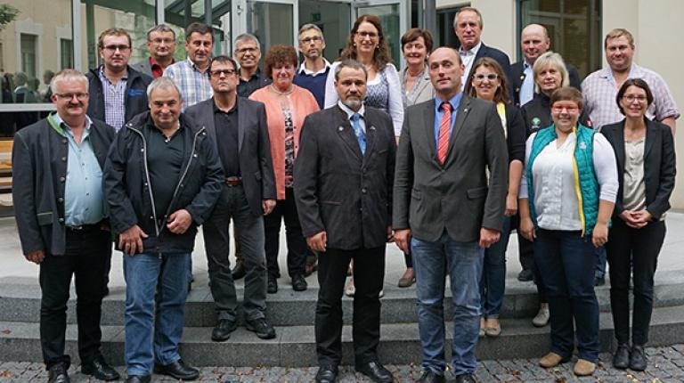 Der Landesfachausschuss Nebenerwerbslandwirtschaft und Diversifizierung mit dem neuen Vorsitzenden Alfred Enderle und dem Landessprecher der Nebenerwerbslandwirte Michael Bienlein