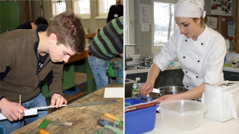 Junge bayerische Nachwuchskräfte in der Ausbildung der Land-, Forst- und Hauswirtschaft sowie dem Weinbau messen ihr Wissen.