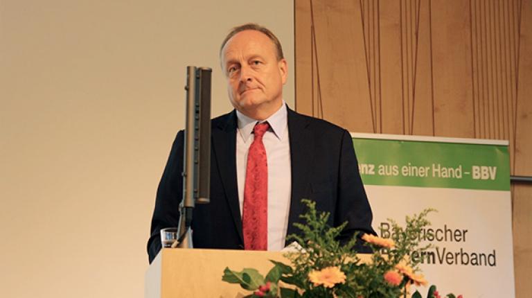 DBV-Präsident Rukwied sprach dieses Jahr auf der BBV-Kreisobmännertagung am 27. Oktober 2017 in Herrsching