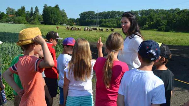 """Mit ihren Programmen wie dem """"Kindertag auf bayerischen Bauernhöfen"""" oder """"Landfrauen machen Schulen"""" gaben Landfrauen 40.467 Kindergarten- und Grundschulkinder einen Einblick in die Landwirtschaft."""