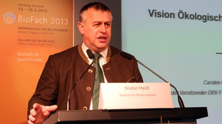 Präsident Heidl auf der Biofach 2013.
