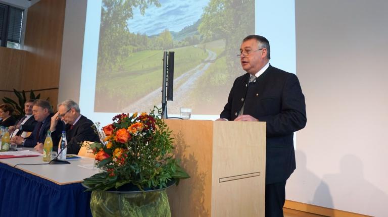 Bauernpräsident Walter Heidl bei der Landesversammlung des Bayerischen Bauernverbandes.