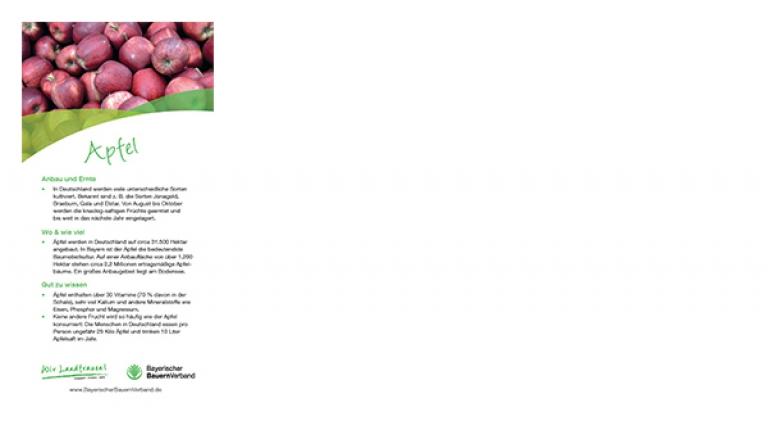 Erntekarte Apfel - mit leckerem Rezept für Apfelpfannkuchen