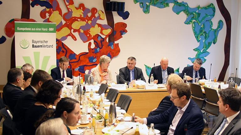 Bauernpräsident Walter Heidl hat mit Landtagsabgeordenten über aktuelle Themen rund um die Land- und Forstwirtschaft diskutiert.