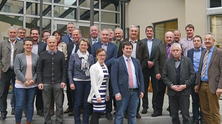 Die Mitglieder des Landesfachausschusses tierische Erzeugung und Vermarktung