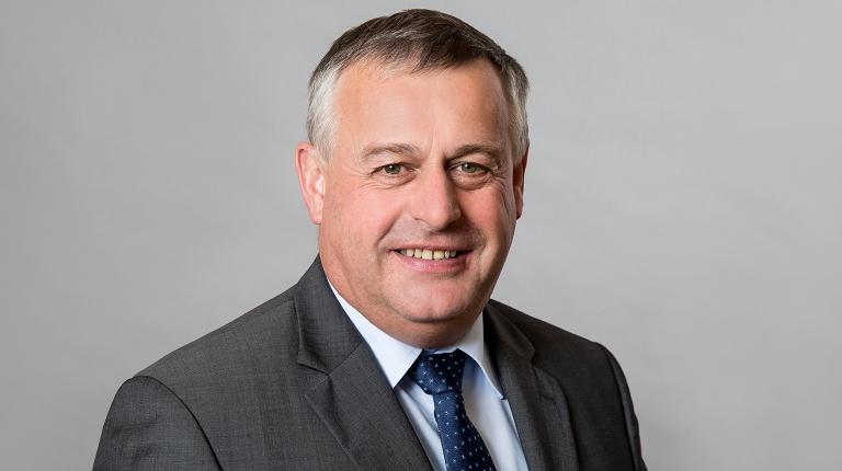 Der wiedergewählte BBV-Präsident Walter Heidl