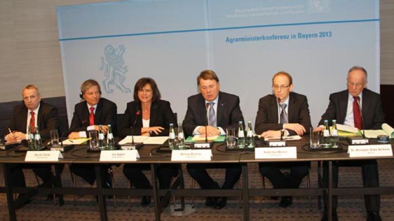 Abschlusspressekonferenz der Agrarministerkonferenz 2013 in Berchtesgaden.