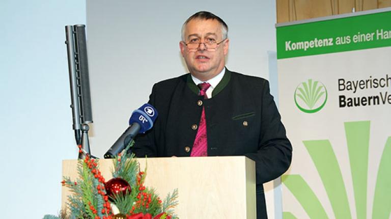 Bauernpräsident Walter Heidl bei der BBV-Landesversammlung 2016.