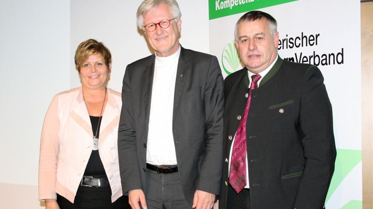 Landesbäuerin Anneliese Göller, Landesbischof Dr. Heinrich Bedford-Strohm und Bauernpräsident Walter Heidl.