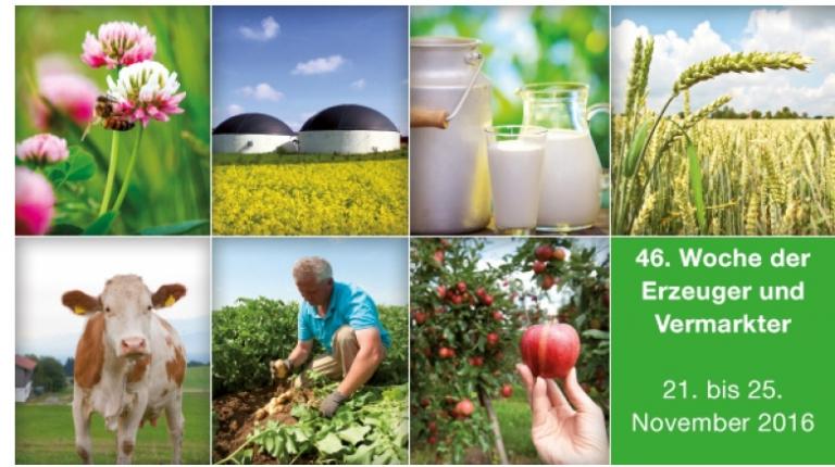 Die Erzeugerwoche 2016 findet vom 21. bis 25. November im Haus der bayerischen Landwirtschaft in Herrsching statt.