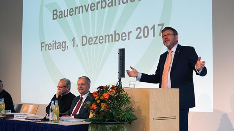 Der bayerische Staatskanzlei-Chef Marcel Huber bei der Landesversammlung des Bayerischen Bauernverbandes.