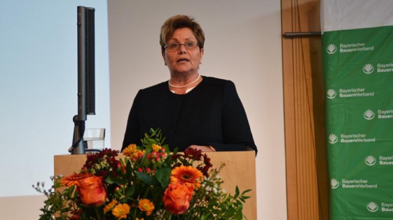 Landesbäuerin Anneliese Göller auf der BBV-Landesversammlung 2017