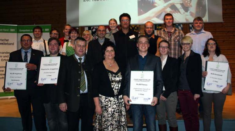 Die Sieger des Landjugendwettbewerbs 2012.