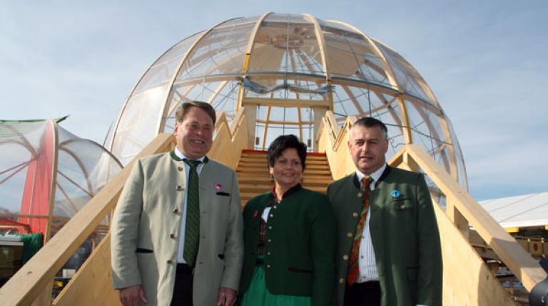 Staatsminister Helmut Brunner, Landesbäuerin Anneliese Göller und BBV-Präsident Walter Heidl gaben heute schon einen Einblick auf das 125. Bayerische Zentral-Landwirtschaft.
