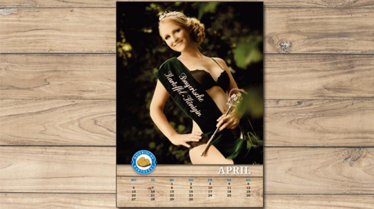 April-Model: Die Bayerische Kartoffelkönigin Kathrin Schoderer.