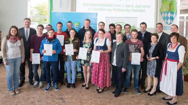 Die Finalisten des Berufswettbewerbes 2015.
