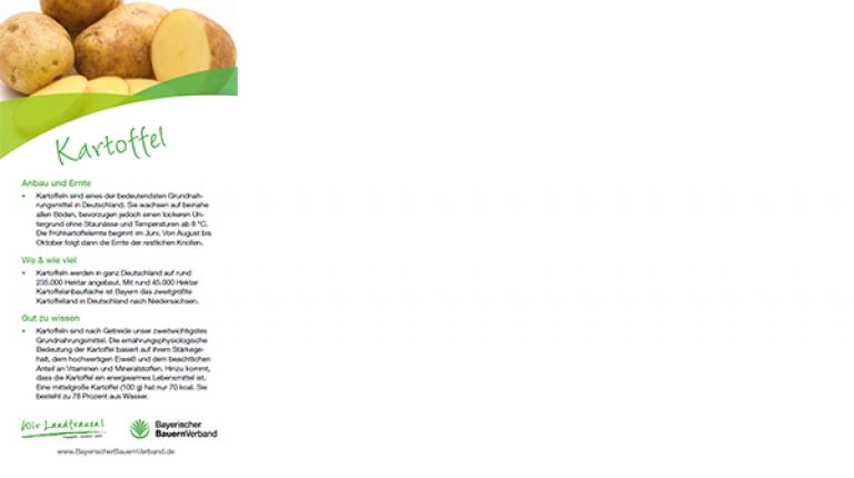 Erntekarte Kartoffel - mit Rezept für gefüllte Kartoffeltaschen