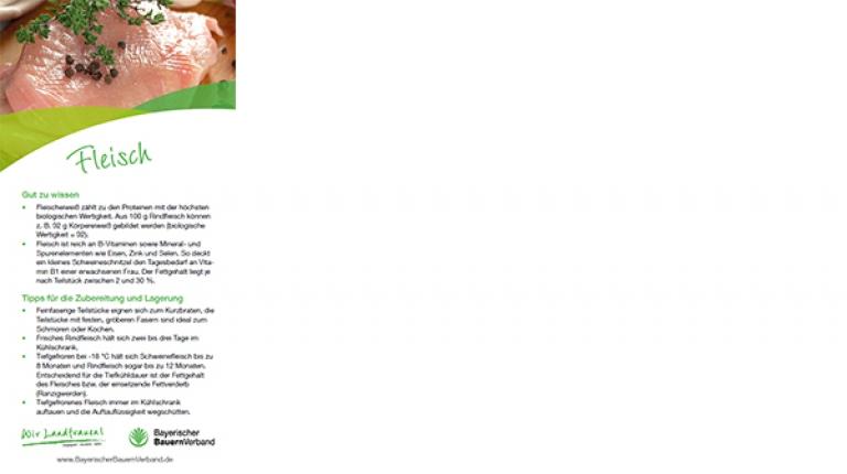 Erntekarte Fleisch - mit Rezept für altbayerische Fleischpflanzerl