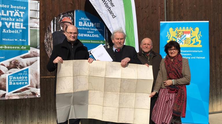 Von links nach rechts: Albert Füracker, Albert Robold, Josef Wutz und Rita Blümel