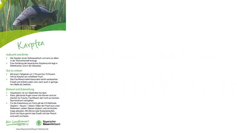 Erntekarte Karpfen - mit Rezept für Karpfenfilet im Kräutermantel